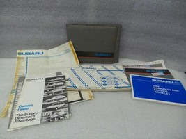 1989 Subaru GL Owners Manual Set With Case 17049 - $16.78