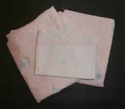 Pink with Flowers Burlington Caress 4 pc Full Sheet Set Cutter Craft Fabric - $9.74