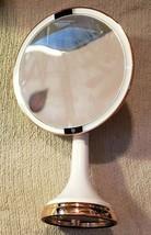 "mDesign Sensor LED Lighted Makeup Vanity Mirror, 8"" Round, 3X - White/Ro... - $55.18"