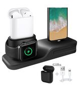 Apple Charging Dock 3 In 1 Docking Station Iphone X 5 6 8 7 Plus Watch S... - $24.99