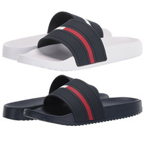 Men's Tommy Hilfiger Designer Classic Flag Logo Slippers Redder Slide Sandals