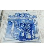"Delft Holland Handmade Tile Trivet Plaque, 6"" x 6"" Apothecary Shop - $11.87"