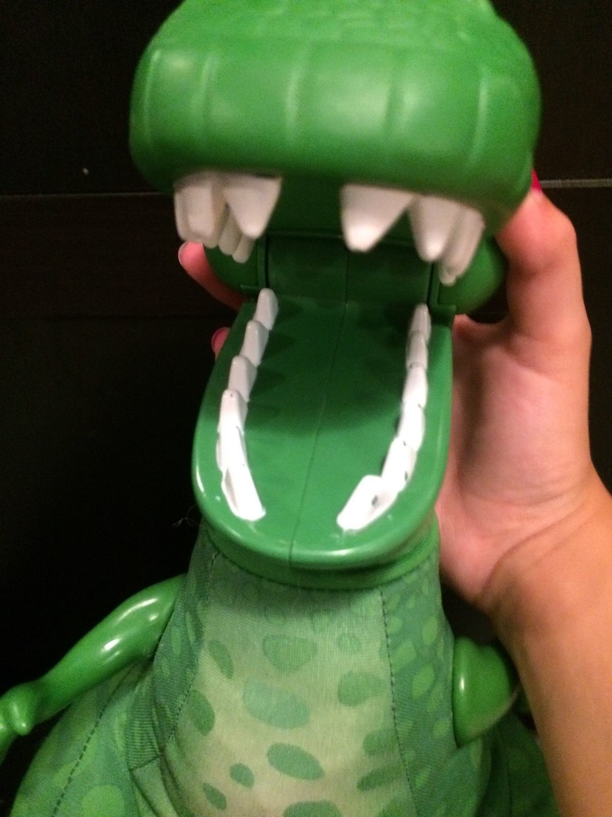 Fisher Price Green Dinosaur Plush Toy Story Plastic Head Arms Squeeze Make Roar image 9