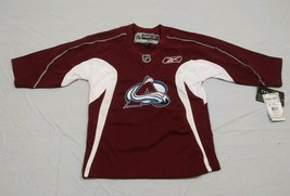 M147 New NWT REEBOK Colorado Avalanche Maroon Embroidered Jersey YOUTH Sizes - $33.95