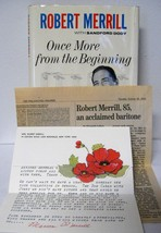 Signed ONCE MORE FROM THE BEGINNING Robert Merrill w/ Letter from Wife &... - $48.38