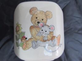 Vintage Mikasa Children's Bank Teddy Bear Mouse Ceramic Hexagon Made In ... - $15.42