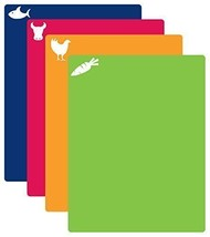 Assorted Colorful Flexible Cutting Mat 4 Pieces Dishwasher Safe 2-4DAY D... - £17.63 GBP