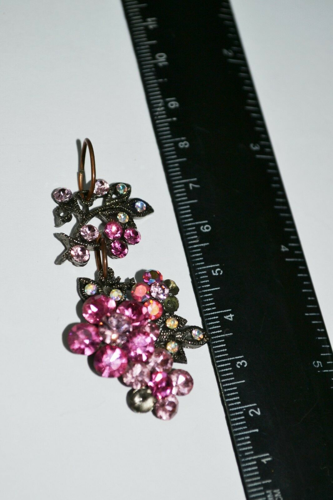 Vintage Pink Rhinestone Flower Pendant