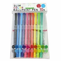 Good Color, Easy to Write and Slim Ballpoint Pens Set 10 Colors / 0.7mm - $7.85