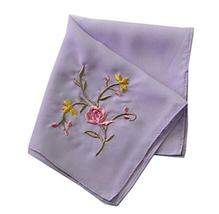 Set of 2 Chinese Style Ladies/Women's Embroidered Handkerchiefs, Pattern-13 - £10.69 GBP