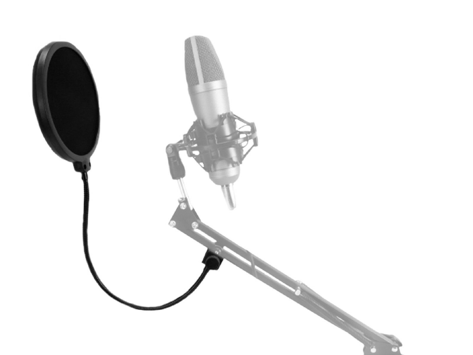 """Technical Pro MKPF2 6'' Clamp on Microphone Pop Filter with 10"""" arm"""