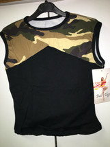 Bal Togs 702 Women's Size Medium Camouflage and black Sleeveless Top - $9.99
