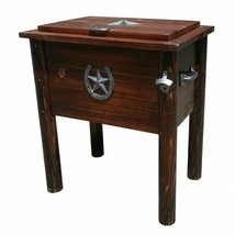 Patio Rustic Pine Wood 54qt Cooler Country Ice Chest Bottle Opener No Ru... - $186.34