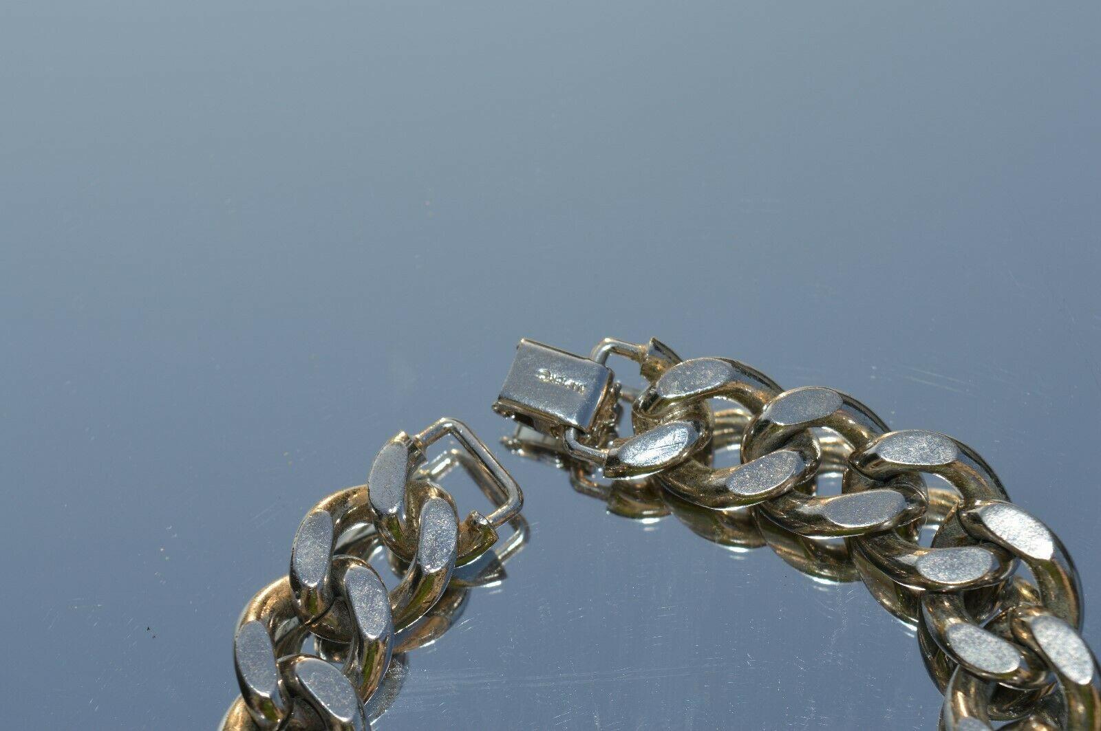True Vtg NAPIER Heavy Link stainless steel Bracelet ''NICE'' image 4