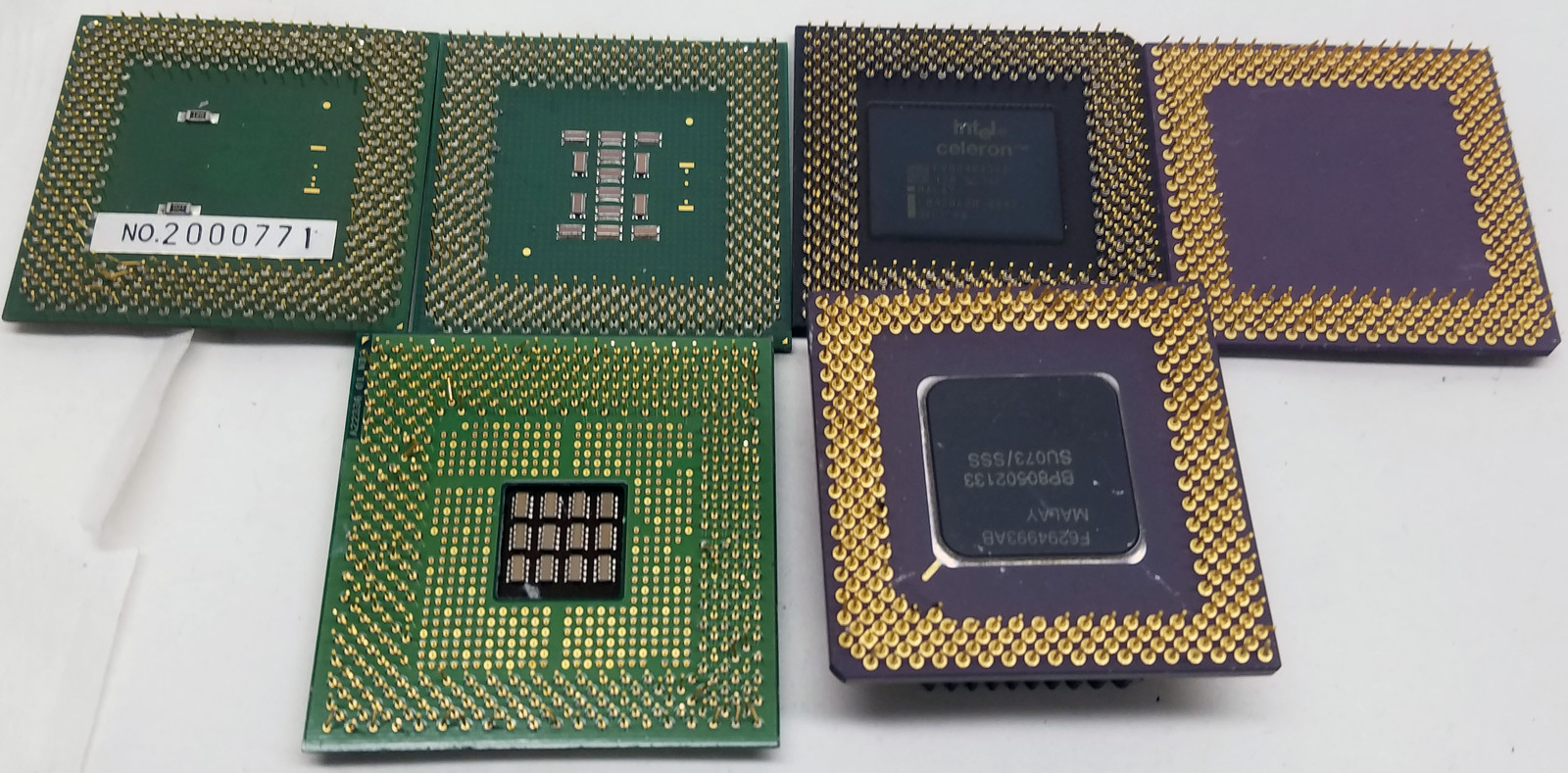 Gold Recovery and Scrap Pentium 4/Pentium 3/Celeron/Other/Unknown 7.3 Lbs