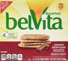 Belvita Cinnamon Brown Sugar Breakfast Biscuits 5 Servings (2 Pack) - $16.00