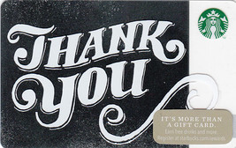 Starbucks 2014 Thank You Scripted Collectible Gift Card New No Value - $4.99