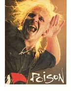 Poison teen magazine pinup clipping Rockline Something to believe Life g... - $3.50