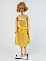 Vintage Mattel 1962 Midge Barbie Doll Freckles Red Head & Yellow Dress - $29.91