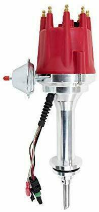 Pro Series R2R Distributor for Mopar Dodge Chrysler BB, V8 Engine Red Cap