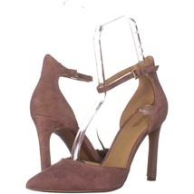 MICHAEL Michael Kors Lisa Pump Ankle Strap Heels 641, Dusty Rose Suede, 9 US / - $34.55
