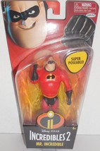 Disney Pixar Incredibles 2 Movie Poseable Mr. Incredible Action Figure N... - $16.79