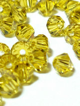 25pcs 3mm SWAROVSKI CRYSTAL FACETED BICONE BEADS - You Choose the Color image 14