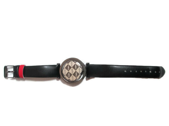 Coca-Cola Accutime Spinner Watch 22 MM Black Vinyl Band - BRAND NEW image 3