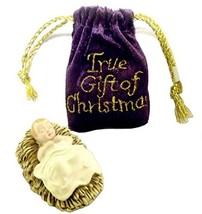 Roman Inc Baby Jesus in Velvet Bag The True Gift of Christmas
