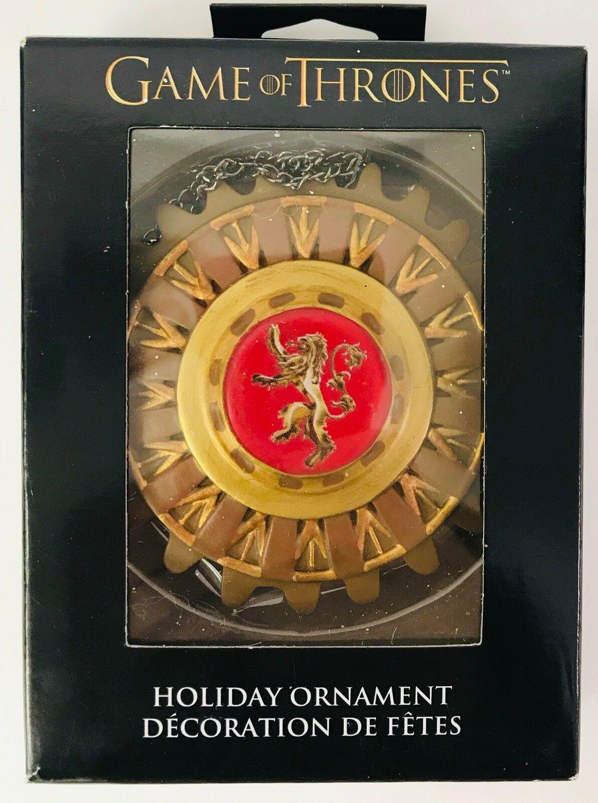 Game Of Thrones Kurt Adler House Sigil Christmas Ornament Lannister Hear Me Roar