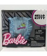 Barbie Hello Kitty Kerropi Top Blouse Shirt White Blue Stripe Sleeveless... - $9.99