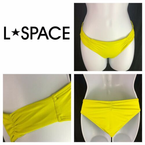 L Space Monique Side Back Ruched Bikini Bottoms Womens XS Extra Small