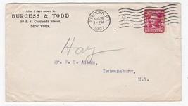 BURGESS & TODD NEW YORK, NY AUGUST 16 1907 - $1.78