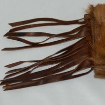 Unbranded Brown Cowhide Frindged Small  Eight Inch Clutch image 5