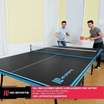 Ping Pong Table Tennis Folding Tournament Size Game Room Indoor Outdoor ... - $163.34