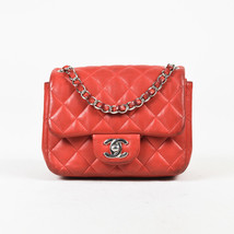 Chanel Red Lambskin Quilted Mini Crossbody Classic Flap Bag - $1,760.00
