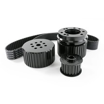 Ford SB Small Block 302-351w V8 Engine Gilmer Style Pulley Kit (BLACK)