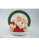Coca-Cola Trim-A-Tree Collection Santa Away with a Tired Thirst Face Orn... - $9.41