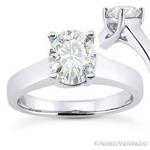 Forever Brilliant Oval Cut Moissanite 14k White Gold Solitaire Engagement Ring - €585,78 EUR - €3.331,72 EUR