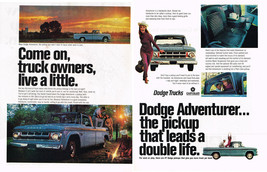 Vintage 1968 2-Page Magazine Ad Dodge Truck Adventurer Is A Handsome Devil - $5.93