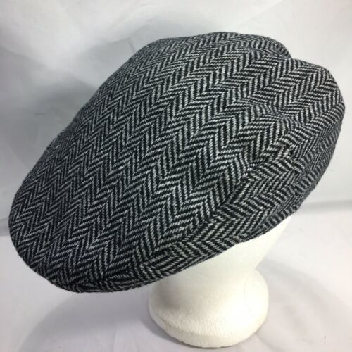 DORMAN PACIFIC DPC Gatsby Newsboy Cabbie Hat Cap Herringbone Wool Blend Medium
