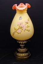 1985 Fenton Connoisseur Burmese Satin Butterfly &  Flowering Branch Lamp... - $525.00