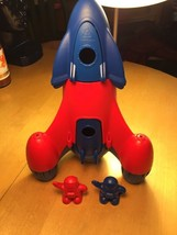 Green Toys Space Rocket Red and Blue With 2 Rocket Men - $18.69