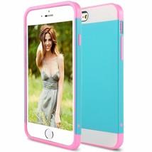 Blue Pink Hard Case for Apple iPhone 6 & 6s - Shockproof Armor Hybrid Co... - $8.40