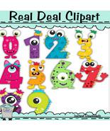 Monster Numbers Clip Art - $1.25