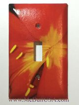 Heart of the Red Flower Light Switch Duplex Outlet Wall Cover Plate Home decor image 1