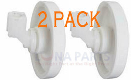 2 Pack New 612977 Dishwasher Lower Rack Wheel & Clip Fits Frigidaire Kenmore - $10.13