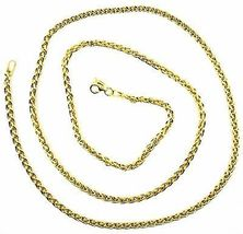 9K YELLOW GOLD CHAIN SPIGA EAR ROPE LINKS 2.5 MM THICKNESS, 20 INCHES, 50 CM image 4
