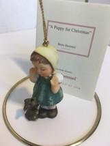 Hummel ~ A puppy for Christmas ~ Berta Porcelain Ornament with COA - $18.70
