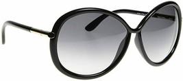 Tom Ford CLOTHILDE Black & Gold / Gray Gradient Sunglasses TF162 01B 162... - $195.02